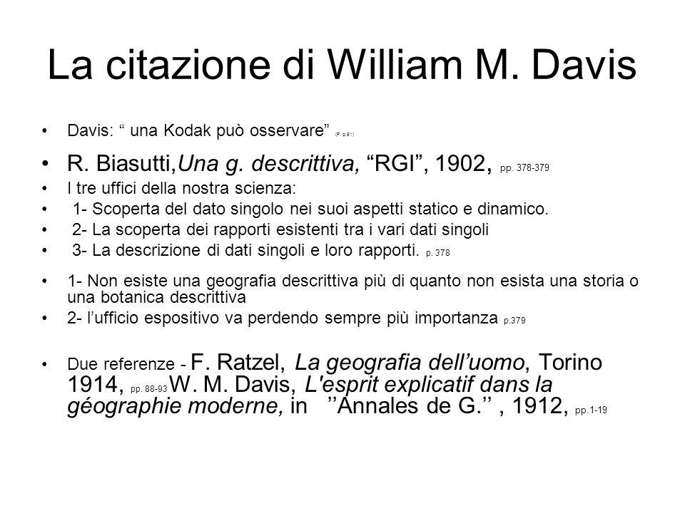 La citazione di William M. Davis