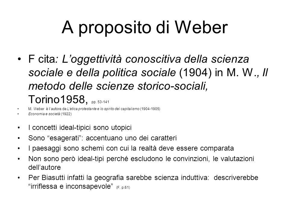 A proposito di Weber