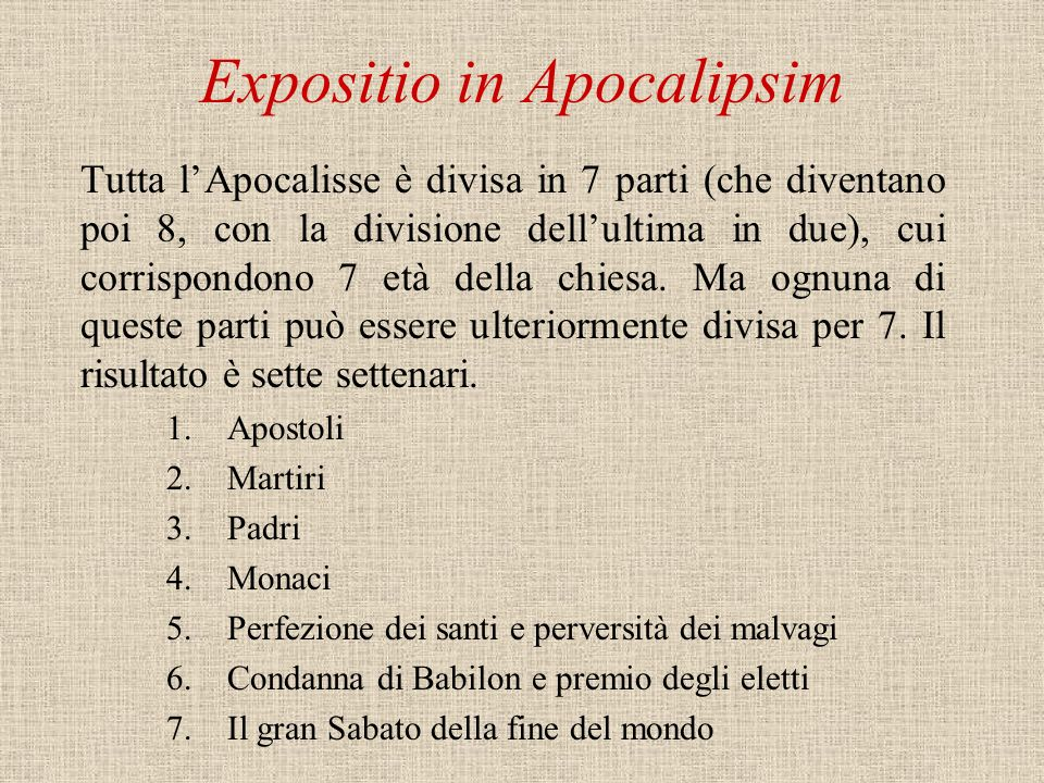 Expositio in Apocalipsim