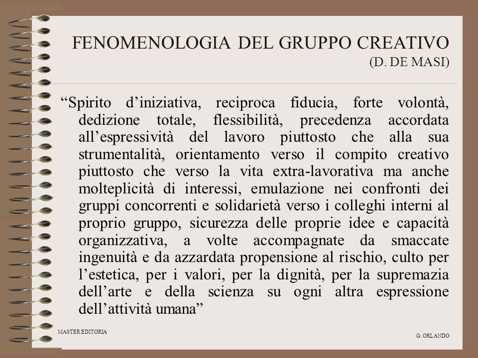 FENOMENOLOGIA DEL GRUPPO CREATIVO (D. DE MASI)