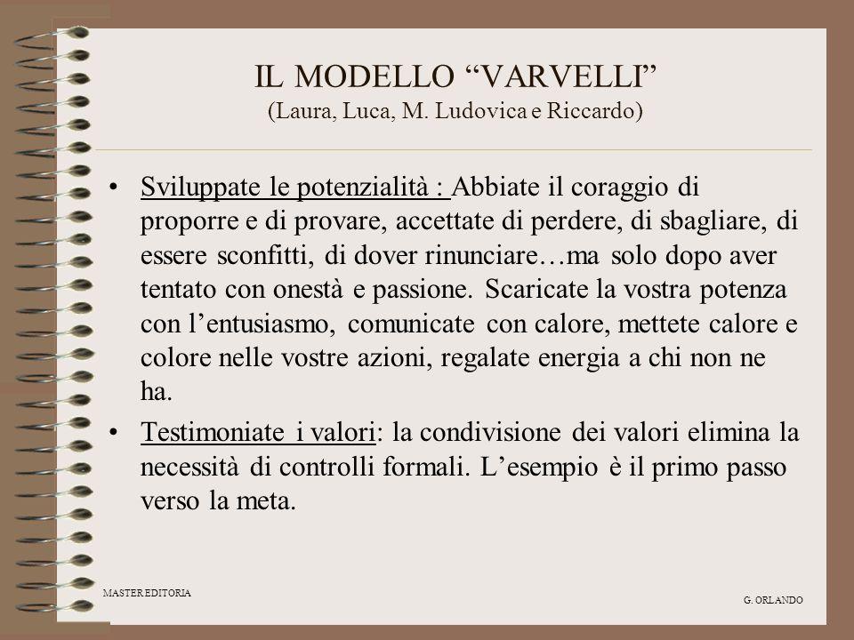 IL MODELLO VARVELLI (Laura, Luca, M. Ludovica e Riccardo)