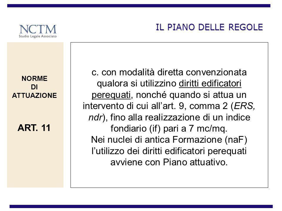IL PIANO DELLE REGOLE