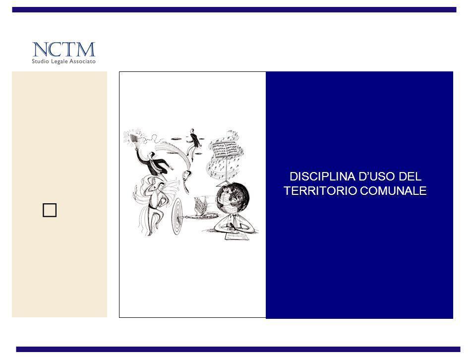 DISCIPLINA D'USO DEL TERRITORIO COMUNALE