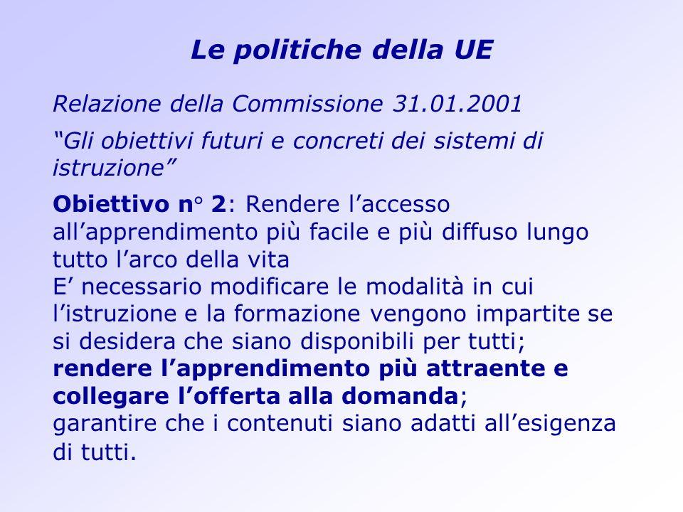 Le politiche della UE Relazione della Commissione 31.01.2001