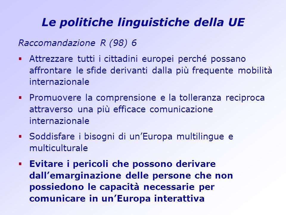 Le politiche linguistiche della UE
