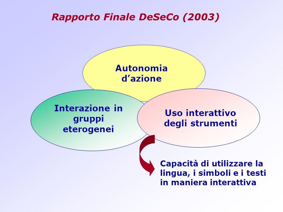Rapporto Finale DeSeCo (2003)