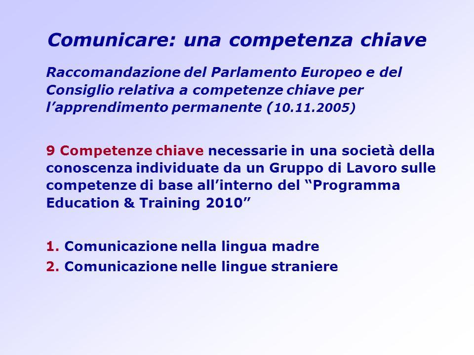 Comunicare: una competenza chiave
