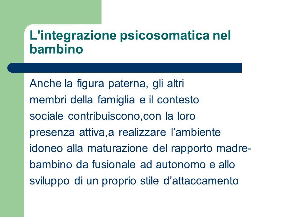 L integrazione psicosomatica nel bambino