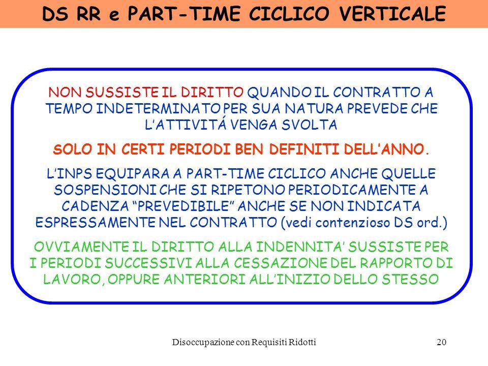 DS RR e PART-TIME CICLICO VERTICALE