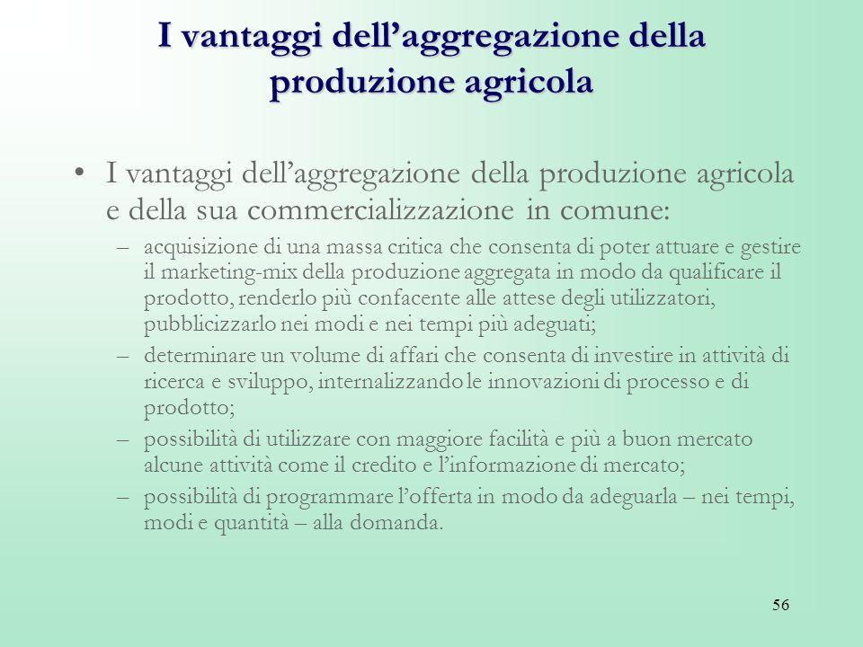 I vantaggi dell'aggregazione della produzione agricola