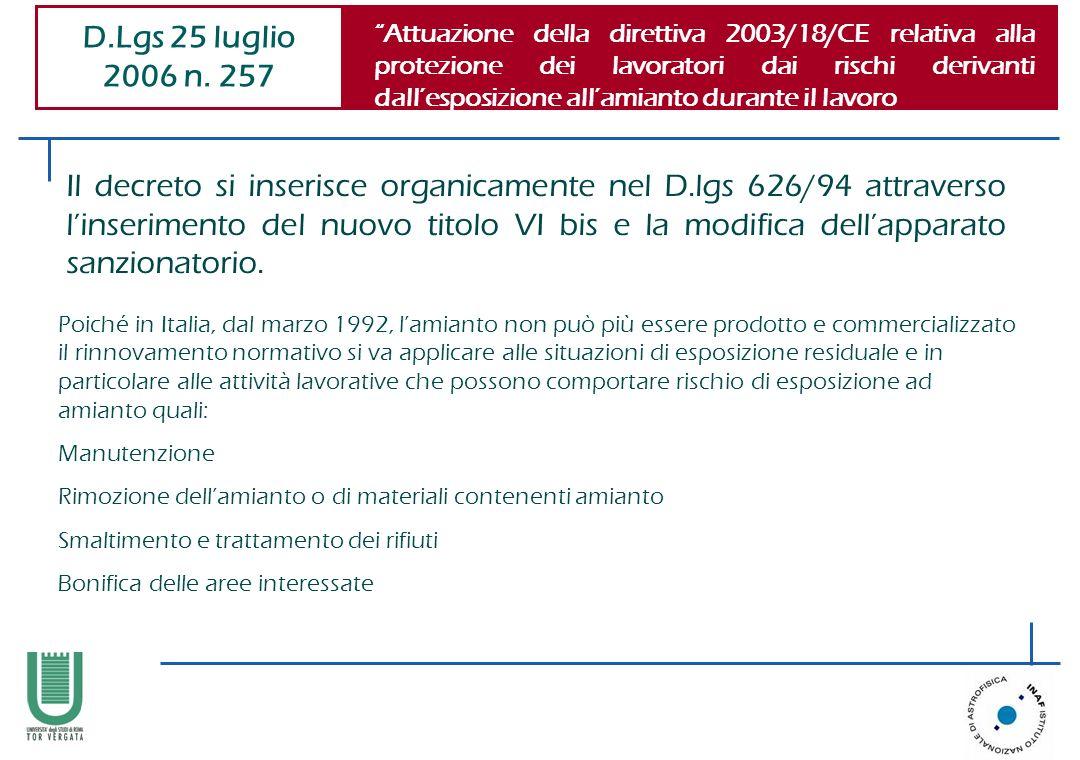 D.Lgs 25 luglio 2006 n. 257