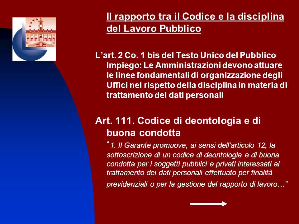 Il rapporto tra il Codice e la disciplina del Lavoro Pubblico