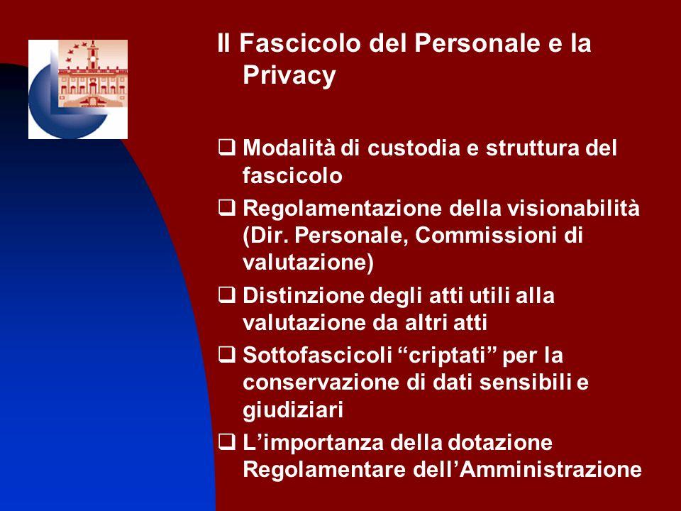 Il Fascicolo del Personale e la Privacy