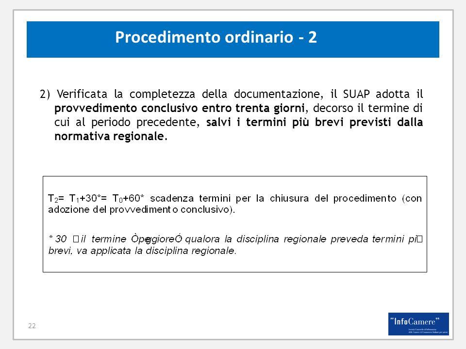 Procedimento ordinario - 2