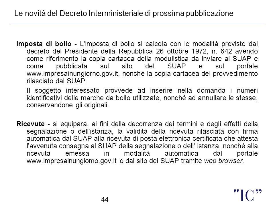 Le novità del Decreto Interministeriale di prossima pubblicazione
