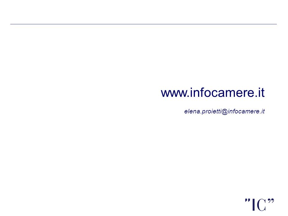 www.infocamere.it elena.proietti@infocamere.it