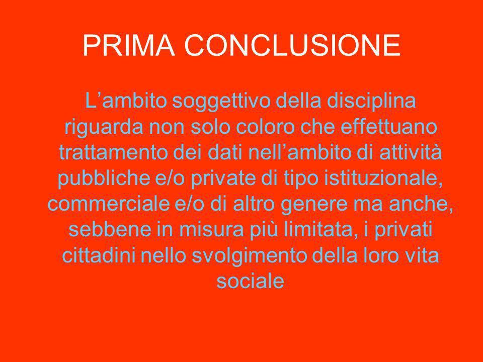 PRIMA CONCLUSIONE