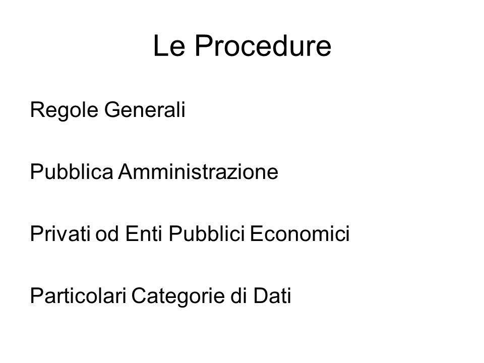 Le Procedure Regole Generali Pubblica Amministrazione