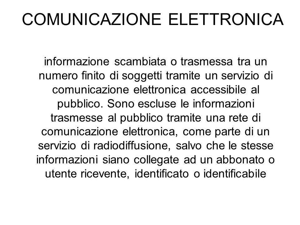 COMUNICAZIONE ELETTRONICA
