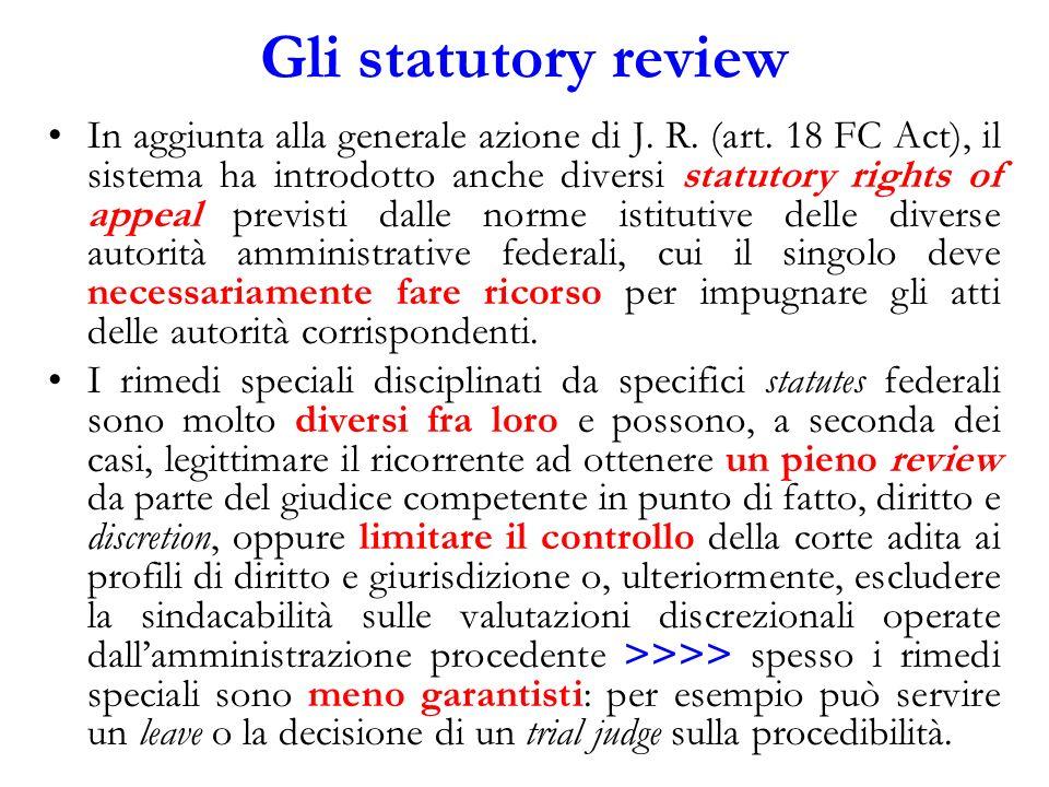 Gli statutory review