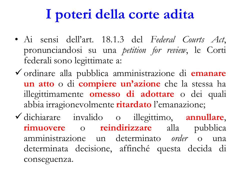 I poteri della corte adita