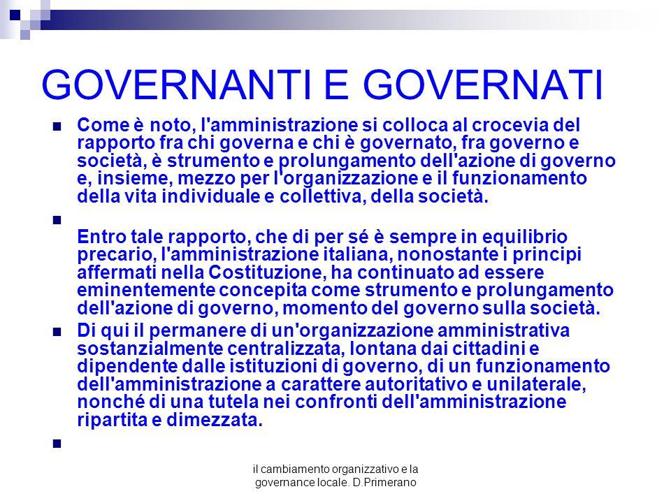 GOVERNANTI E GOVERNATI