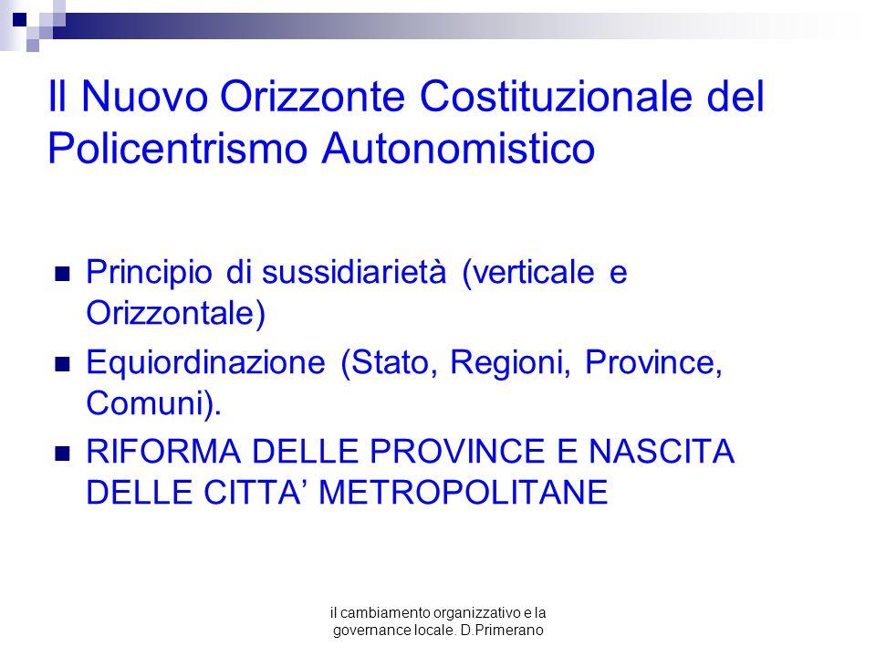 Il Nuovo Orizzonte Costituzionale del Policentrismo Autonomistico