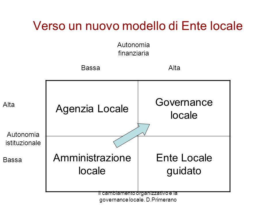 Verso un nuovo modello di Ente locale