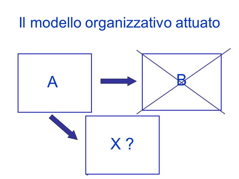 Il modello organizzativo attuato
