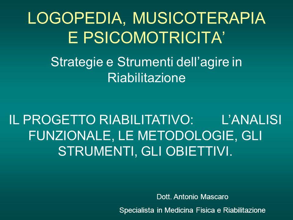 LOGOPEDIA, MUSICOTERAPIA E PSICOMOTRICITA'