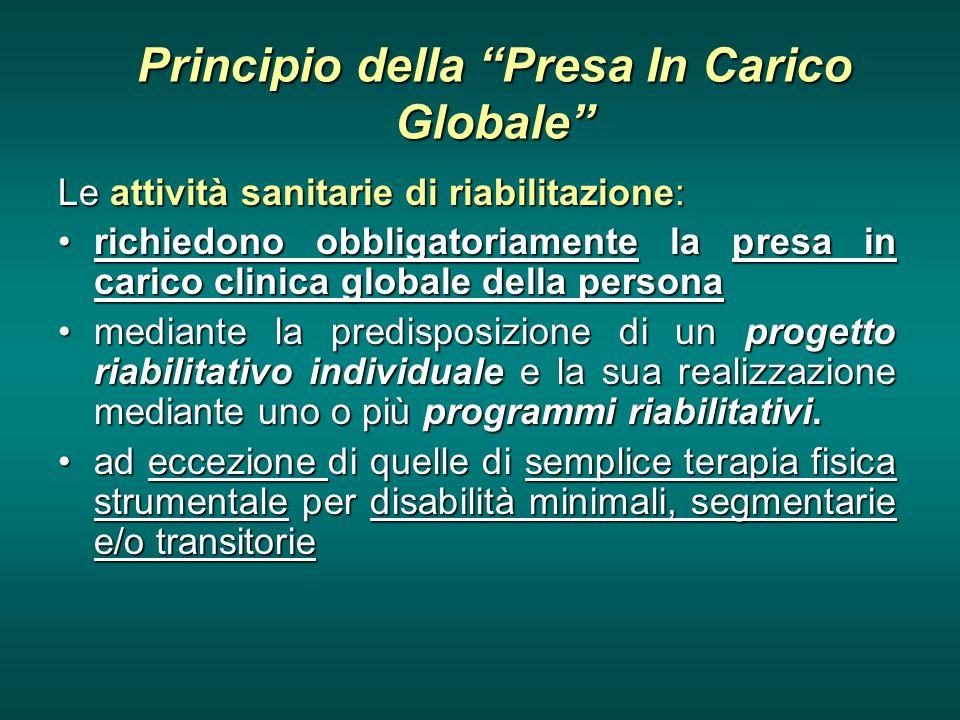 Principio della Presa In Carico Globale
