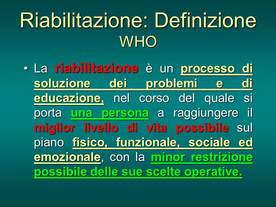 Riabilitazione: Definizione WHO