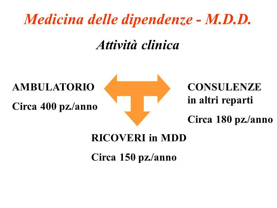 Medicina delle dipendenze - M.D.D.