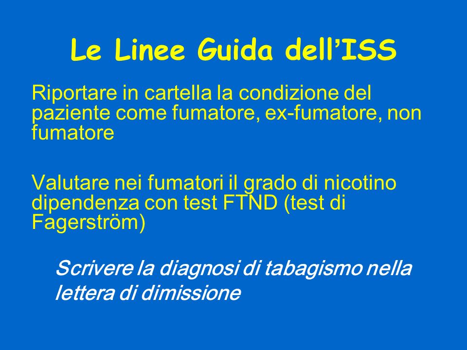 Le Linee Guida dell'ISS