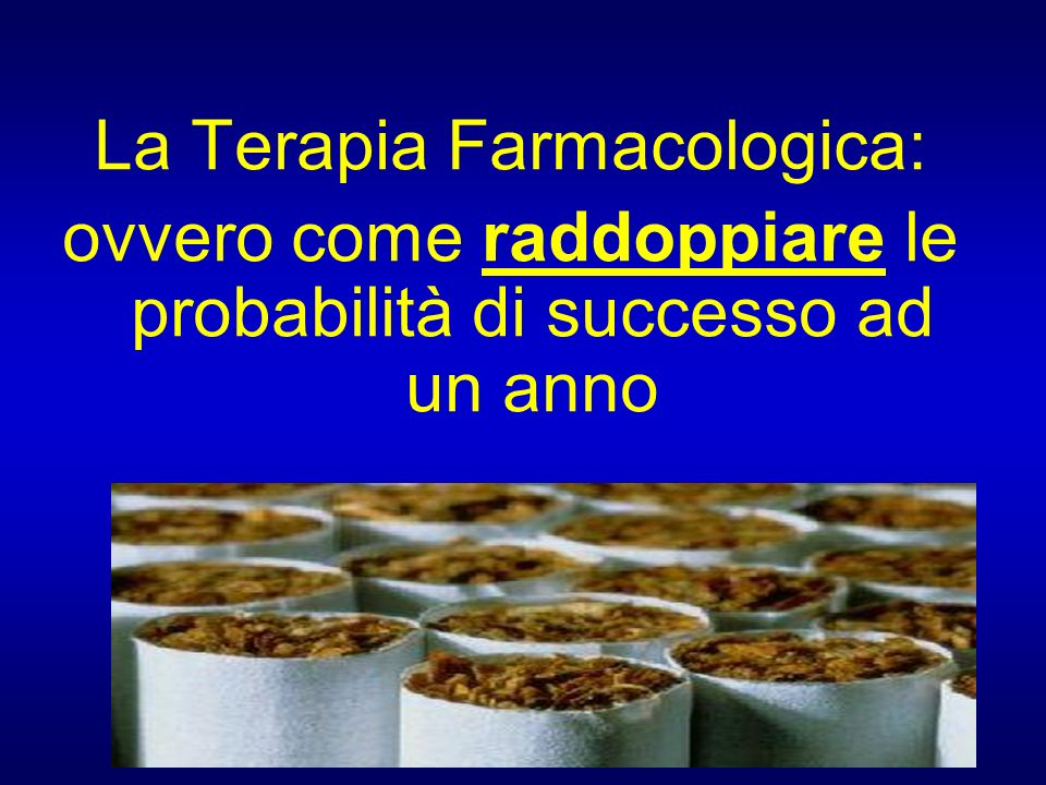 La Terapia Farmacologica: