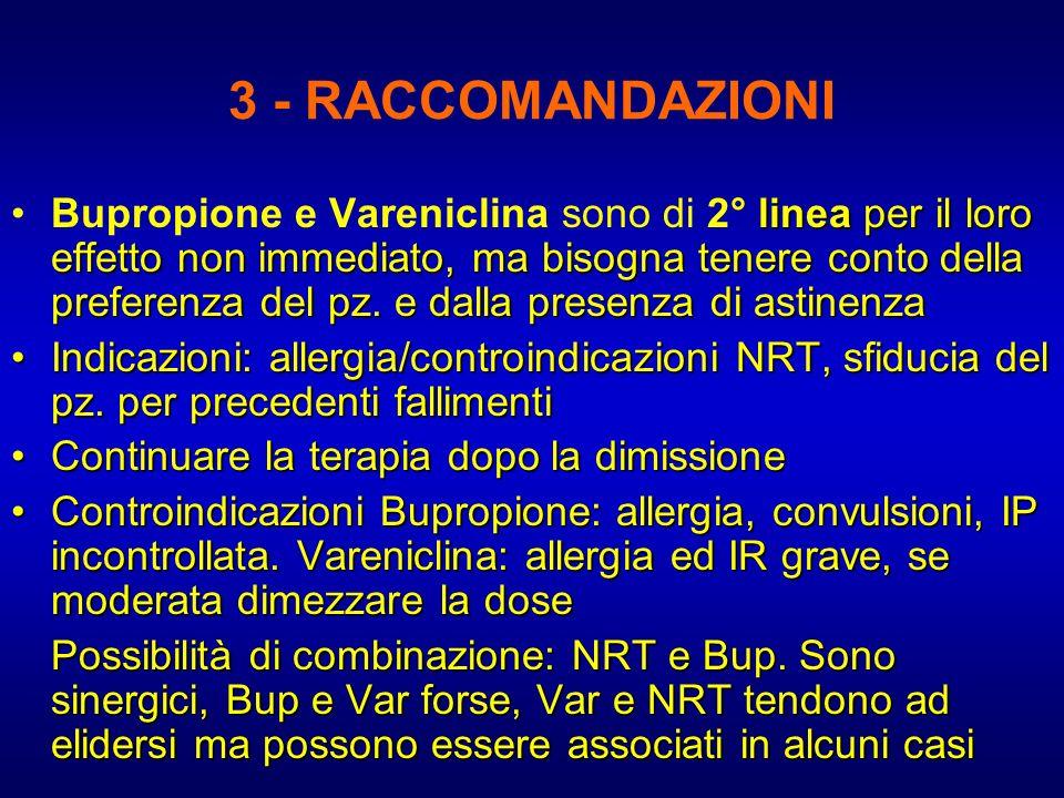3 - RACCOMANDAZIONI