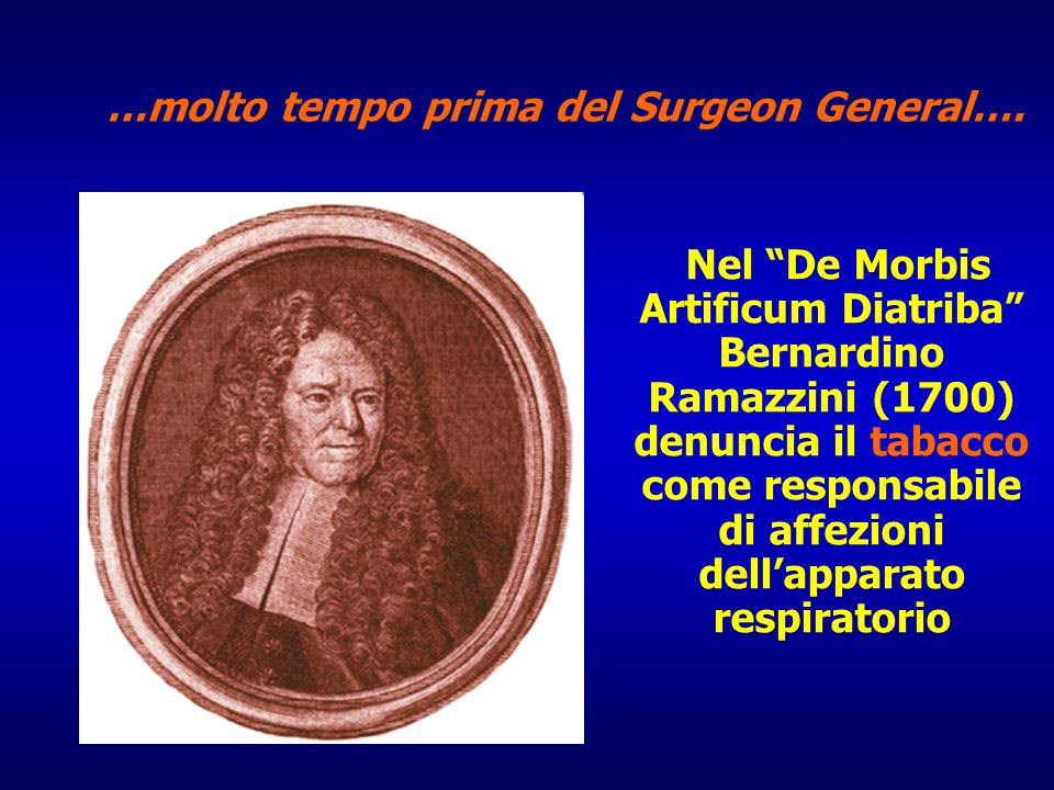 …molto tempo prima del Surgeon General….