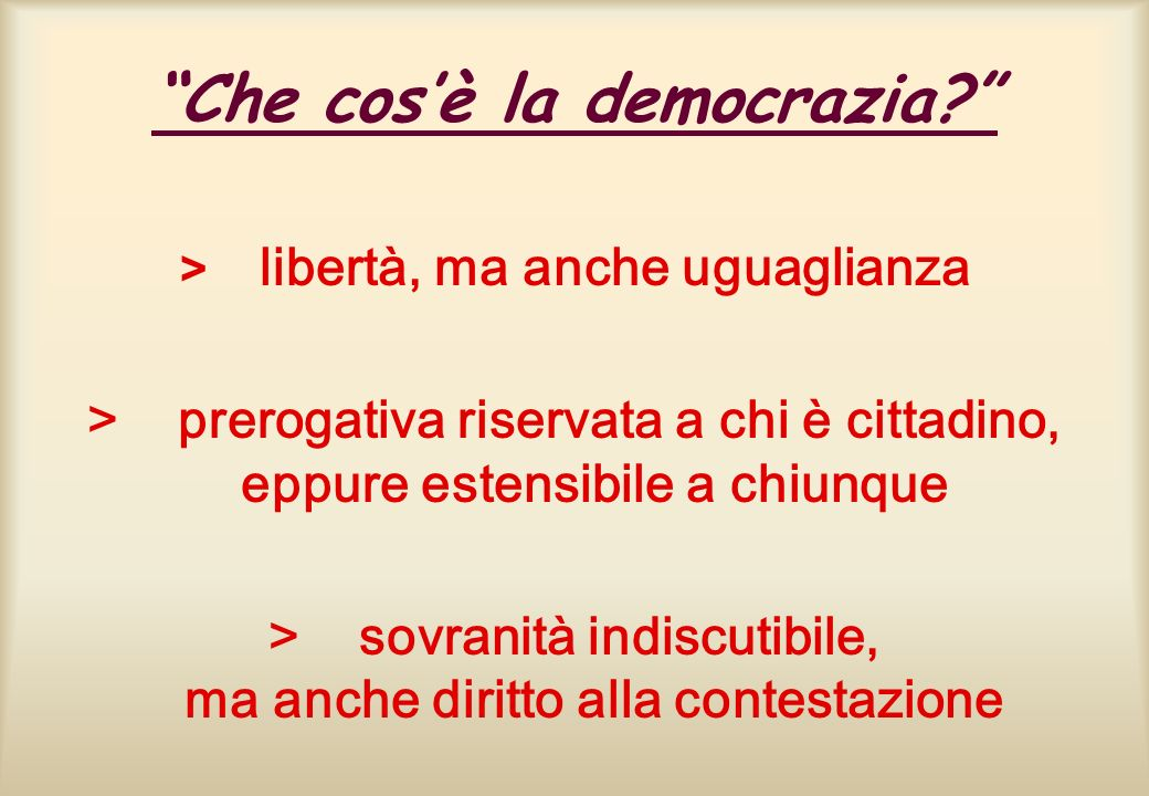 Che cos'è la democrazia