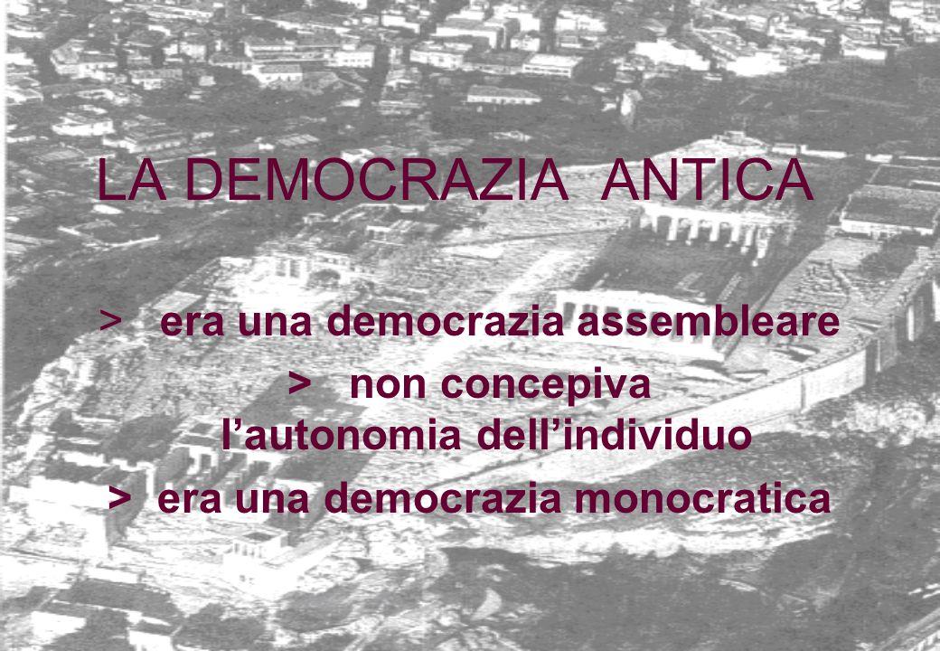 LA DEMOCRAZIA ANTICA > era una democrazia assembleare