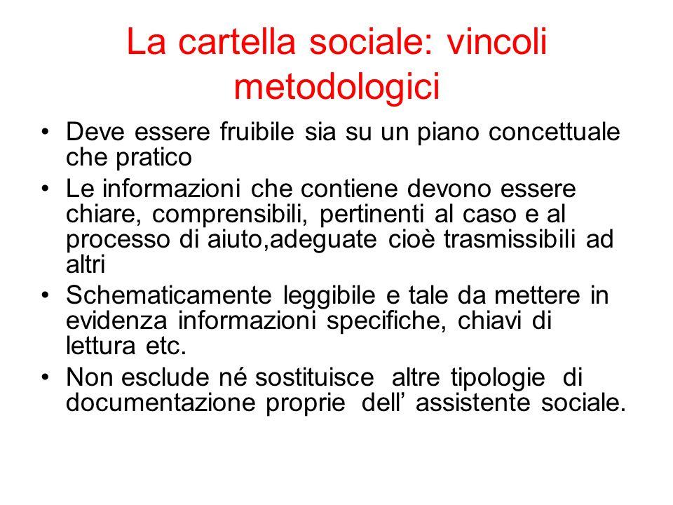 La cartella sociale: vincoli metodologici
