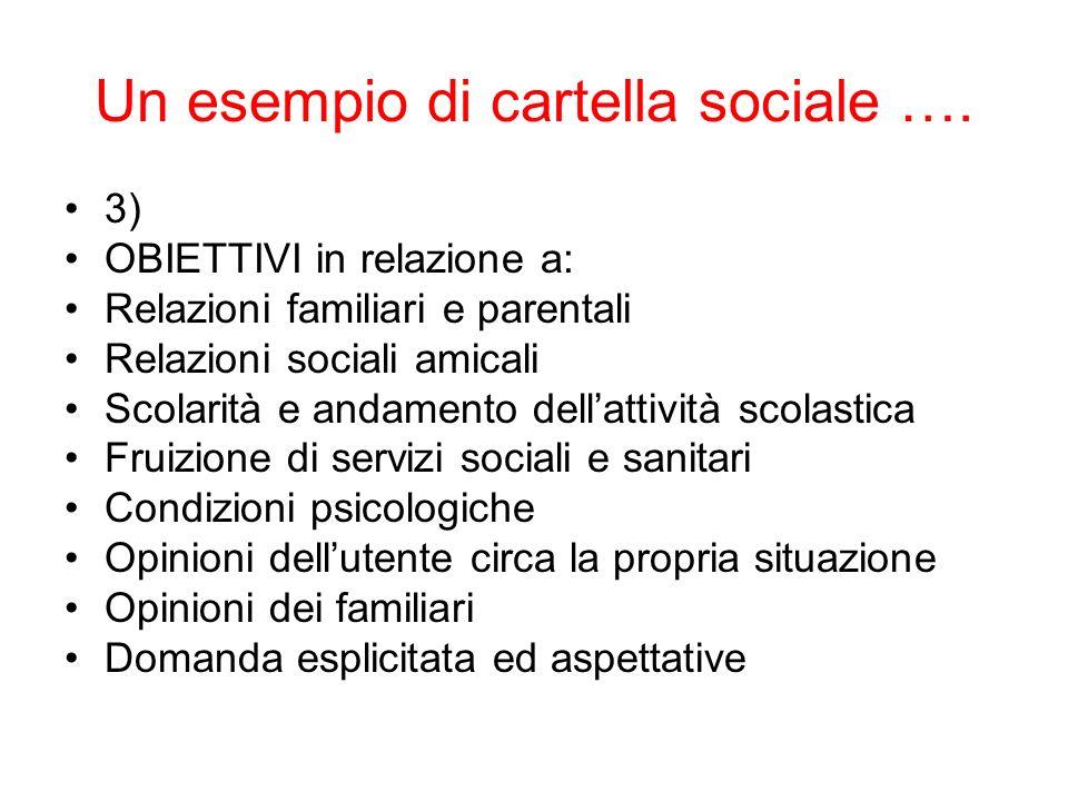 Un esempio di cartella sociale ….