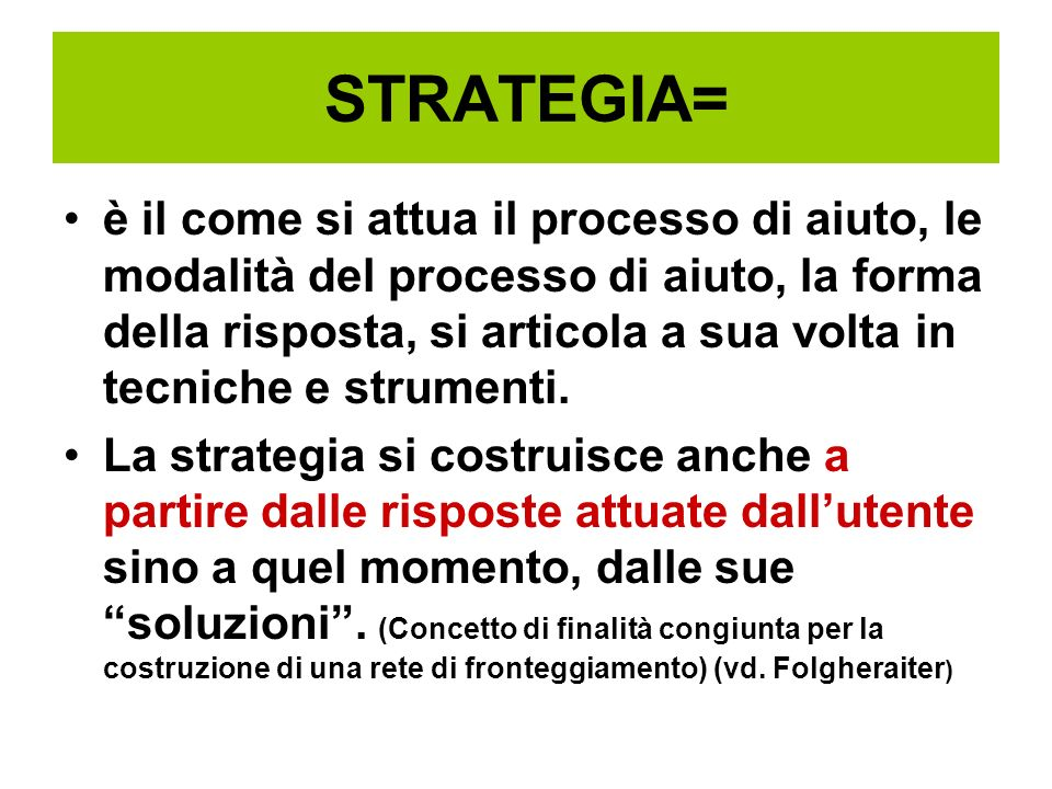 STRATEGIA=