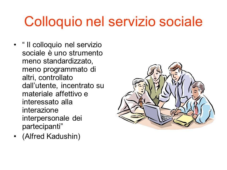 Colloquio nel servizio sociale