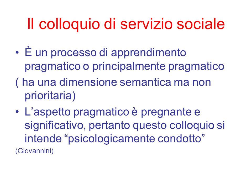 Il colloquio di servizio sociale