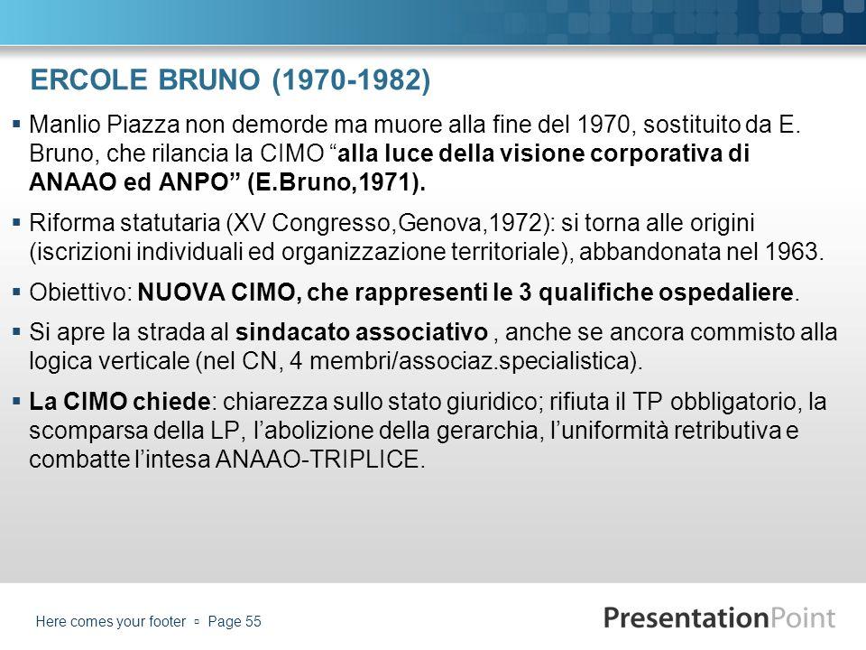 ERCOLE BRUNO (1970-1982)