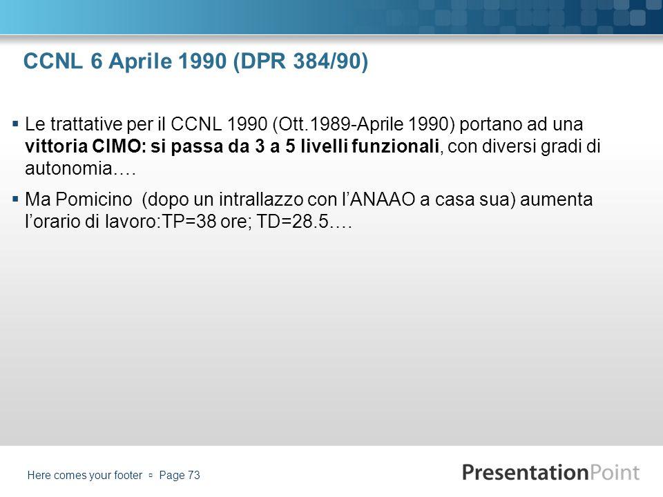 CCNL 6 Aprile 1990 (DPR 384/90)