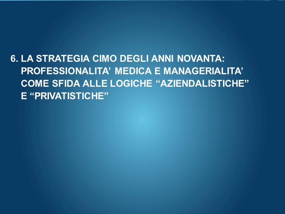 6. LA STRATEGIA CIMO DEGLI ANNI NOVANTA:
