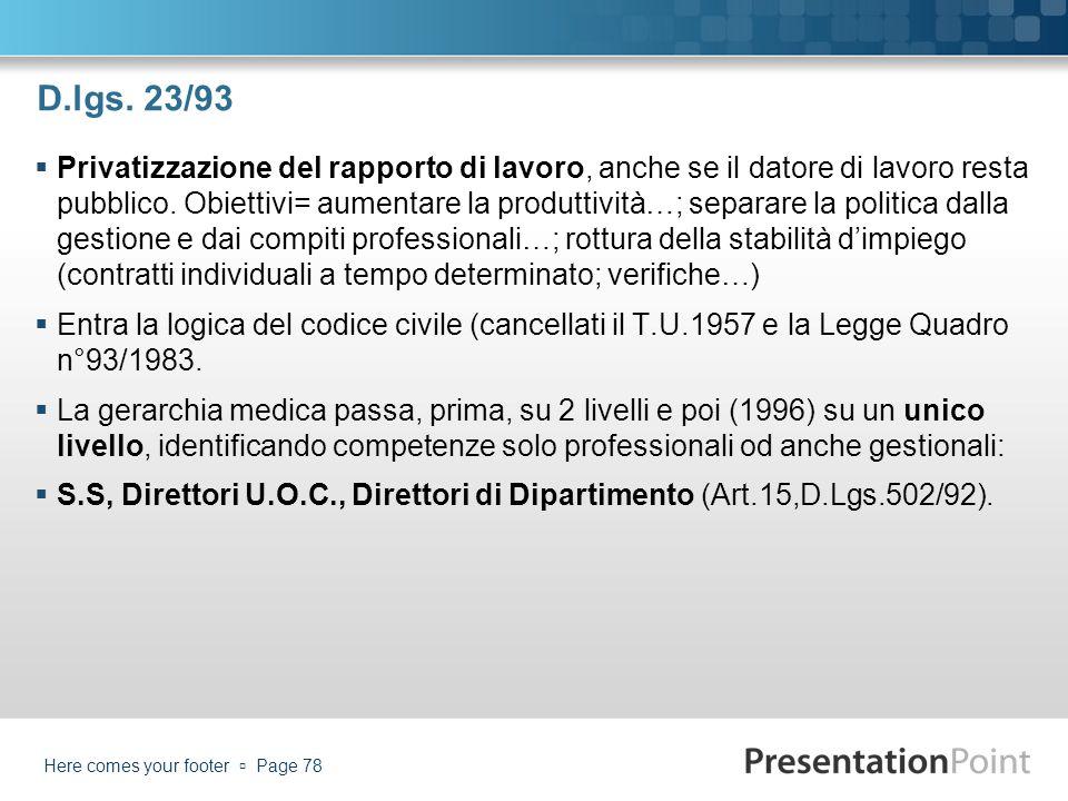 D.lgs. 23/93