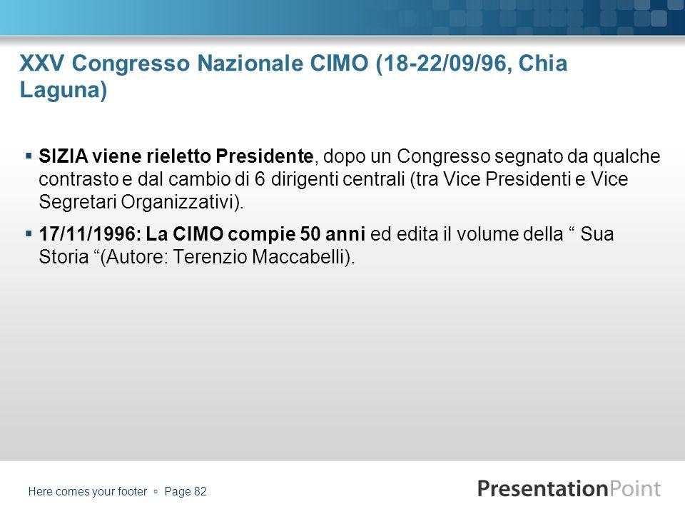 XXV Congresso Nazionale CIMO (18-22/09/96, Chia Laguna)
