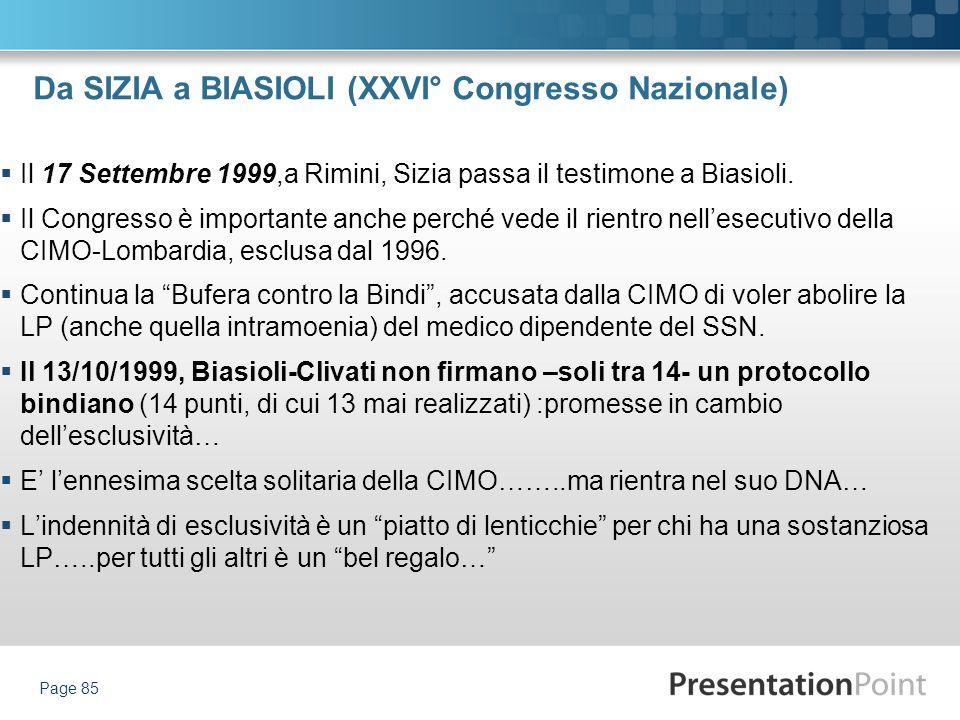 Da SIZIA a BIASIOLI (XXVI° Congresso Nazionale)